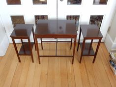 STUNNING ART DECO TRIO OF OCCASIONAL TABLES  x3