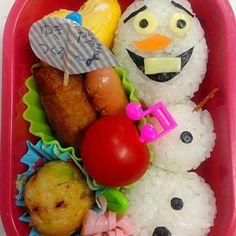 久々の投稿〜♪♪♪ 子供達がハマってるアナ雪!!! オラフ可愛かったなぁ〜 - 26件のもぐもぐ - 幼稚園お弁当♡オラフ♡ by Yuiko Naganuma