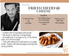 Fried Cheddar Cheese #cheese