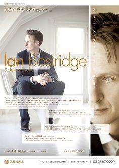 イアン・ボストリッジ Concert Flyer, Recital, Copywriting, Flyers, Editorial, Graphic Design, Music, Image, Movie Posters