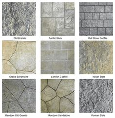 Stamped Concrete Pattens.
