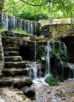 Inspiring Springs and Waterfalls of Argyroupolis (ancient Lappa) Crete, Greece