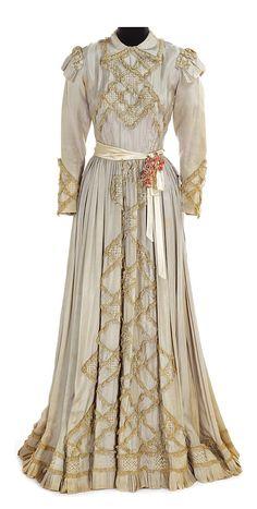 "Bette Davis ""Carlota"" grey silk period dress designed by Orry-Kelly from Juarez."