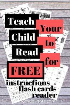 Teach Your Child to Read for FREE • Mom Delights