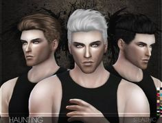 Stealthic - Haunting (Male Hair) - The Sims 4 Catalog Sims 4 Hair Male, Sims Hair, Sims 4 Cas, Sims Cc, Tumblr Sims 4, Mods Sims, The Sims 4 Cabelos, Pelo Sims, Sims 4 Blog