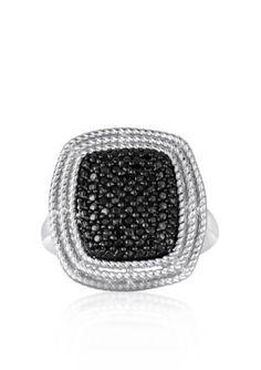 Belk  Co.  Black Diamond Ring in Sterling Silver