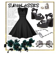"""Sunglasses"" by v-aldina ❤ liked on Polyvore featuring Pared, Nine West and RetroSunglasses"