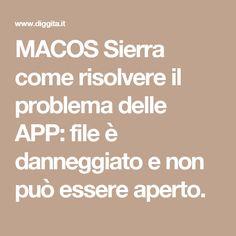 MACOS Sierra come risolvere il problema delle APP: file è danneggiato e non può essere aperto.