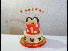 Торт Минни Маус Как собрать и украсить торт Cake Minnie Mouse