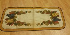 Autumn Harvest Burlap Cotton Table Runner 13x36 Country Home Decor NWOT #unknown