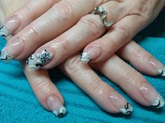 Black and white curl and whirl design. Clients are crazy about this new design. Hot trend.