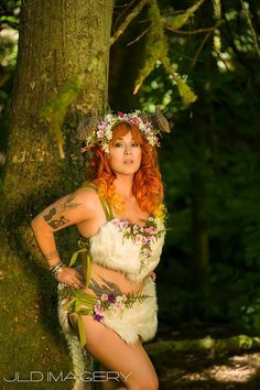 Woodland Nymph Corset Lacing Skirt with Moss and by idolatre