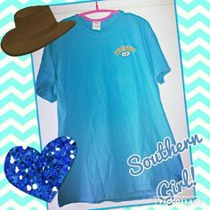 "Southern girl tshirt. Blue southern girl T-shirt with ""if momma ain't happy ain't nobody happy "" wrote on the back in bright colors. Southern Girl Tops Tees - Short Sleeve"
