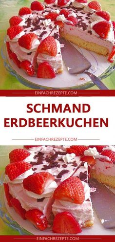Schmand – strawberry cake 😍 😍 😍 More from my siteStrawberry panna cotta – Ohne Backen – die besten Sommerrezepte ohne BackofenSnow Maiden Strawberry Dream Recipe Easy Vanilla Cake Recipe, Icing Recipe, Easy Cake Recipes, Cookie Recipes, Strawberry Dessert Recipes, New Cake, Recipe For 4, Pumpkin Spice Cupcakes, Coffee Cake