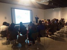 Mark Mills speaking at the Rethink Downtown exhibition center on Oct 1, 2015.