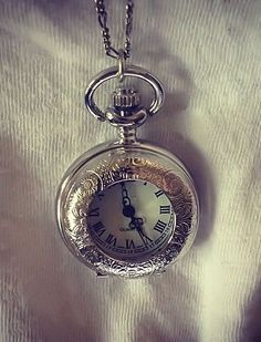 Pocket Watch Necklace <3