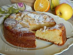 Torta yogurt arancia e mele senza uova