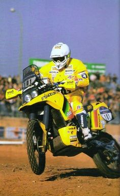 Gaston Rahier (Suzuki DRZ Big 750) París-Dakar 1989