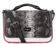 Paul's Boutique Nicole cross-body bag in Grey Snake. Online now || www.paulsboutique... x