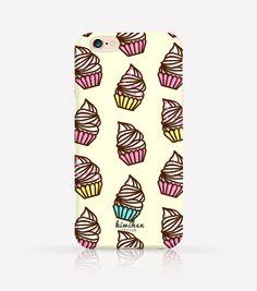 Cute Cupcake Pattern iPhone Case