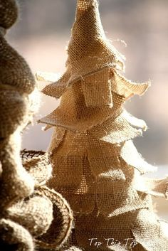 DIY Burlap Christmas Trees by Top This Top That