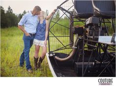 Airboat engagement photos.. has kyle's name written all over it