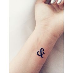 The ampersand represents a broken infinity; showing that nothing lasts forever but there is always an and.