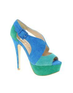 Dune Helium Colourblock Slingback Shoes