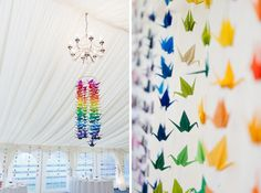 Origami wedding decoration. An interesting alternative to flowers.