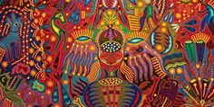 Huichol embroidery from Zacatecas, Mexico