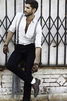 MenStyle1- Men's Style Blog - Suspenders. FOLLOW for more pictures. Follow us...