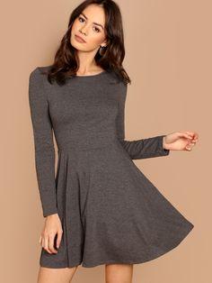 49c5e18eea Strick Kleid- German SheIn(Sheinside) Kleidung Für Frauen, Damen Mode,  Langärmelige