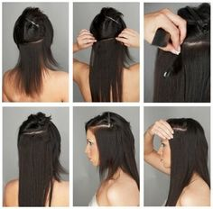 Clip In Hair Extensions  Hair extensions clips in ready for use - extensines con peinetas listas para usar  http://vanessahairsupply.com/categoria-producto/cabello-4/extensiones/extensiones-brazilian-samba/extensiones-brazilian-samba-con-clips/