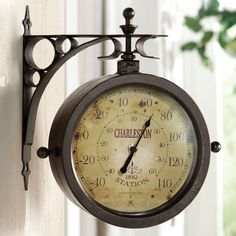 Just found this Outdoor Clock Thermometer - Double-Sided Outdoor Clock-Thermometer -- Orvis on Orvis.com!