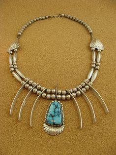Vintage Silver Tom Willeto Navajo Necklace