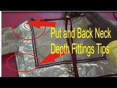 put and back neck depth width dress fittings tips explain   easy method ...