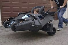 A very cool Batmobile baby stroller!