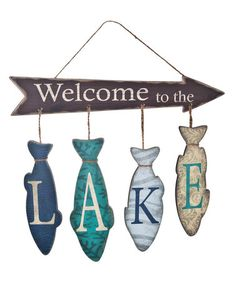 Another great find on #zulily! 'Welcome to the Lake' Wall Sign #zulilyfinds