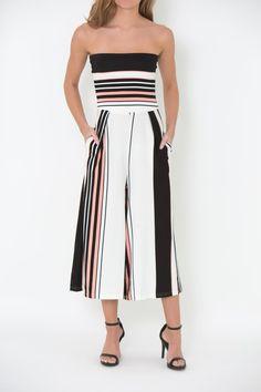 d933b944d0d gilt gossamer - Striped Jumpsuit
