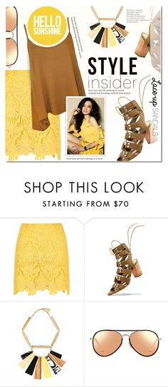 """Strapped in: Lace-Up Sandals"" by anna-anica ❤ liked on Polyvore featuring River Island, Loeffler Randall, STELLA McCARTNEY, Matthew Williamson, WearAll, contestentry, laceupsandals and PVStyleInsiderContest"