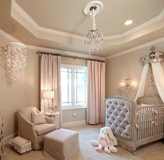 Baby Girl Nursery The Crown Above The Cot In This Nursery By Interior Firm,  A Well Dressed Home, Adds Royal Charm