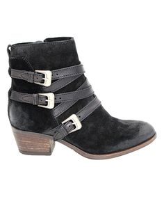 Take a look at this Black Darien Leather Bootie today!