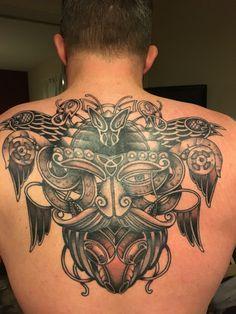 Finished Odin Viking Tattoo
