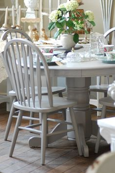 grey painted kitchen table farrow and breath idea for the cupboards in the living room