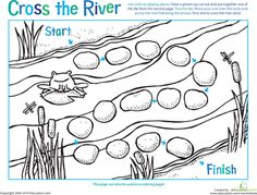 ART-GAME- Worksheets: Board Game: Cross the River