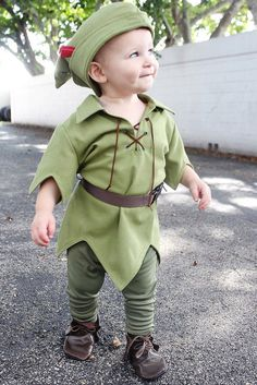 Adorable Toddler Peter Pan Costume The New Version by TwoBluTulips