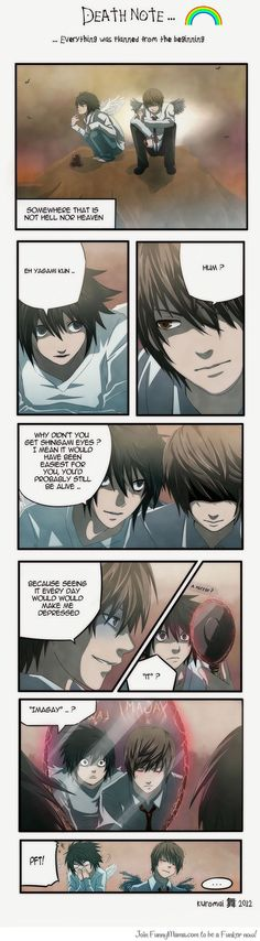 death note- L and yagami light (yagami = imgay) :P
