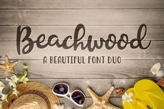 Beachwood Font Duo Fonts Beachwood is a beautiful, hand-drawn font duo. A script and sans that create a casual, yet stylish c by Denise Chandler Handwritten Fonts, Script Fonts, Typography Fonts, New Fonts, Create Font, Font Design, Graphic Design, Lettering Design, Alphabet