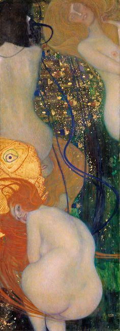 Gustav Klimt Kırmızı Balık / Goldfish 1901-1902. Tuval üzerine yağlıboya. 181 x 66.5 cm. Modern Sanat Galerisi, Venedik.