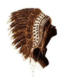 calmati: simple boho here& xx Indian Crafts, Arte Pop, Illustrations, Girl Swag, Native Art, Color Of Life, Native American Indians, Headdress, Cute Wallpapers